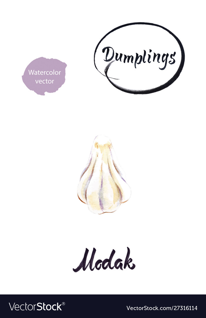 Indian dumpling modak watercolor