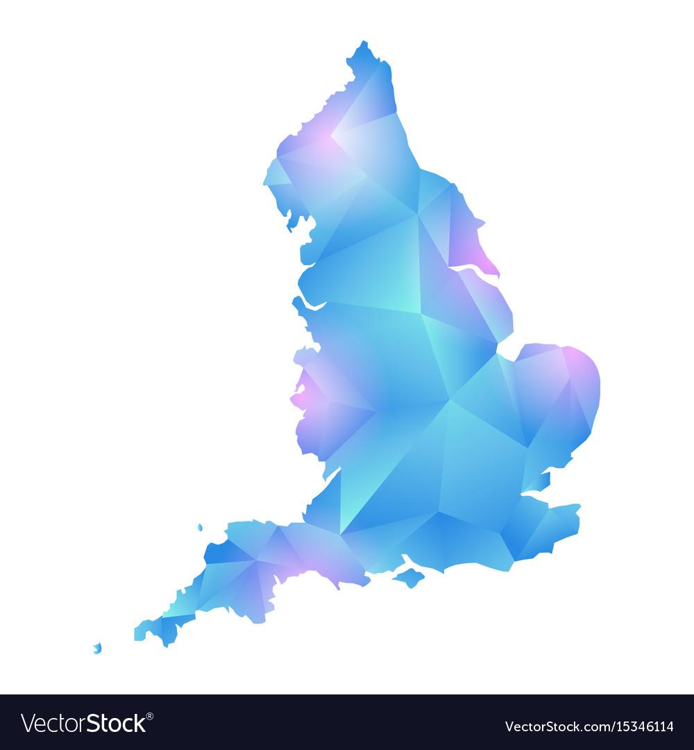 Map of england polygon