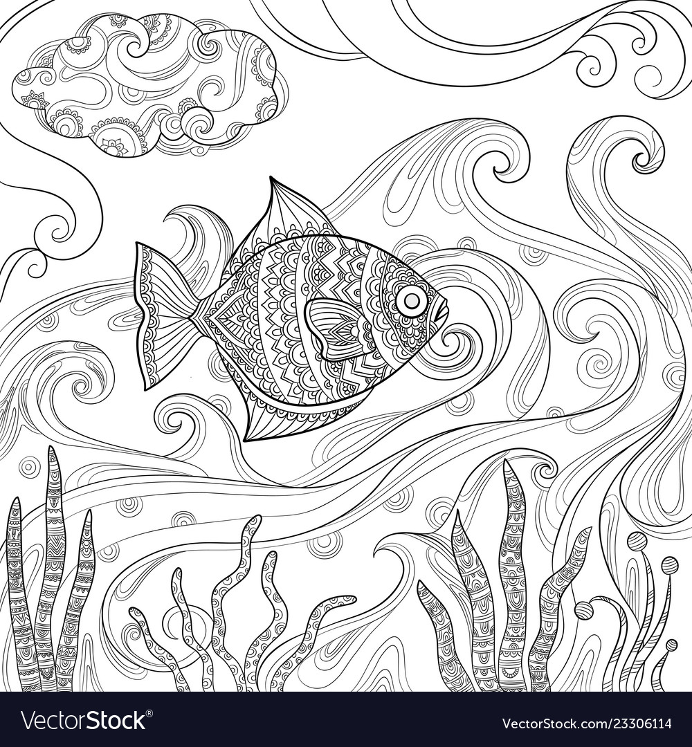 Ocean fish coloring fashion pictures water sea