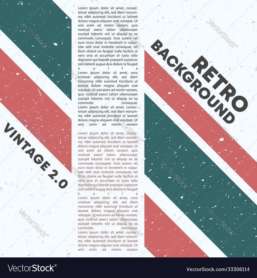 Retro design background with vintage stripes