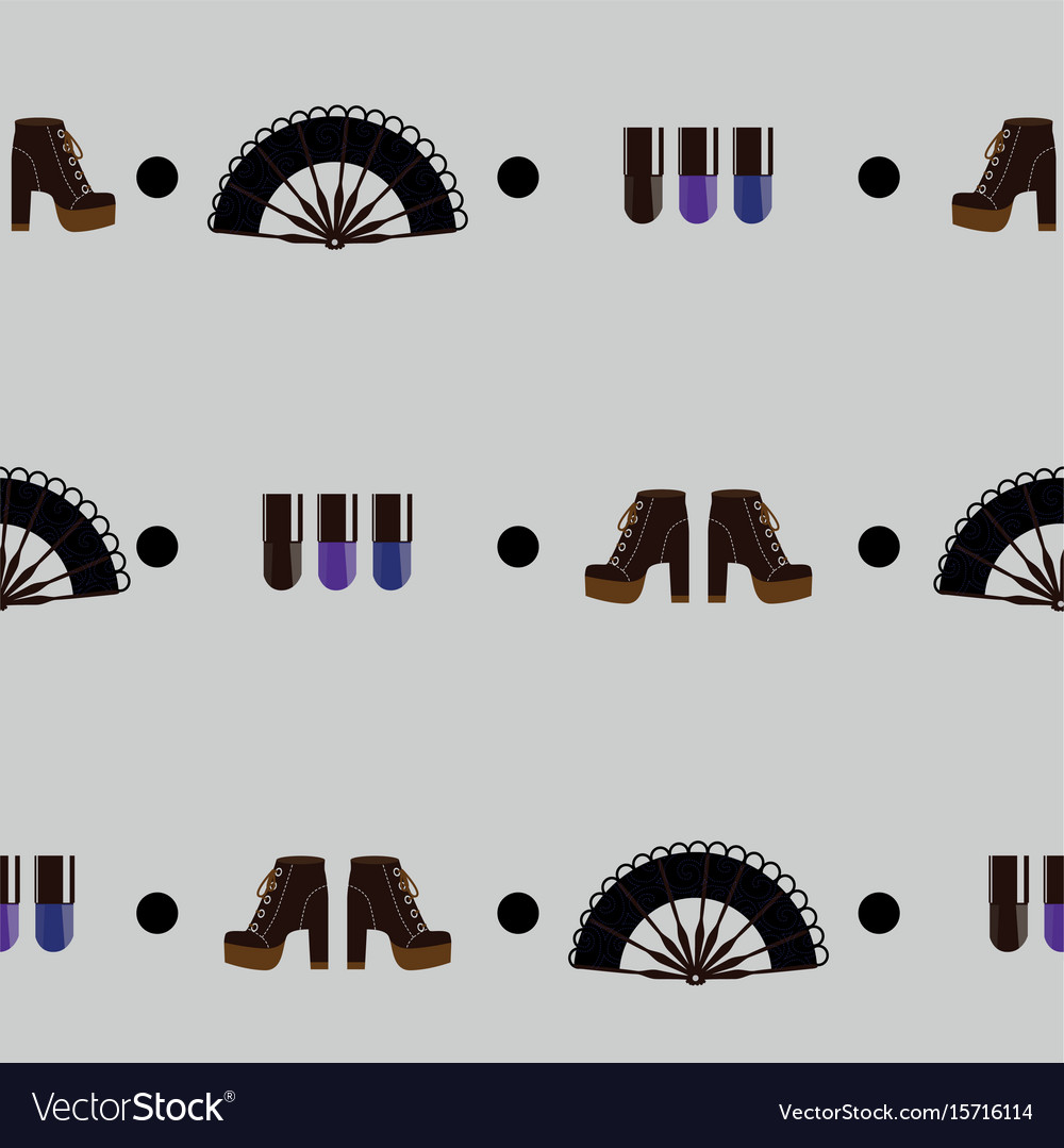 Seamless pattern with gith accessories on grey