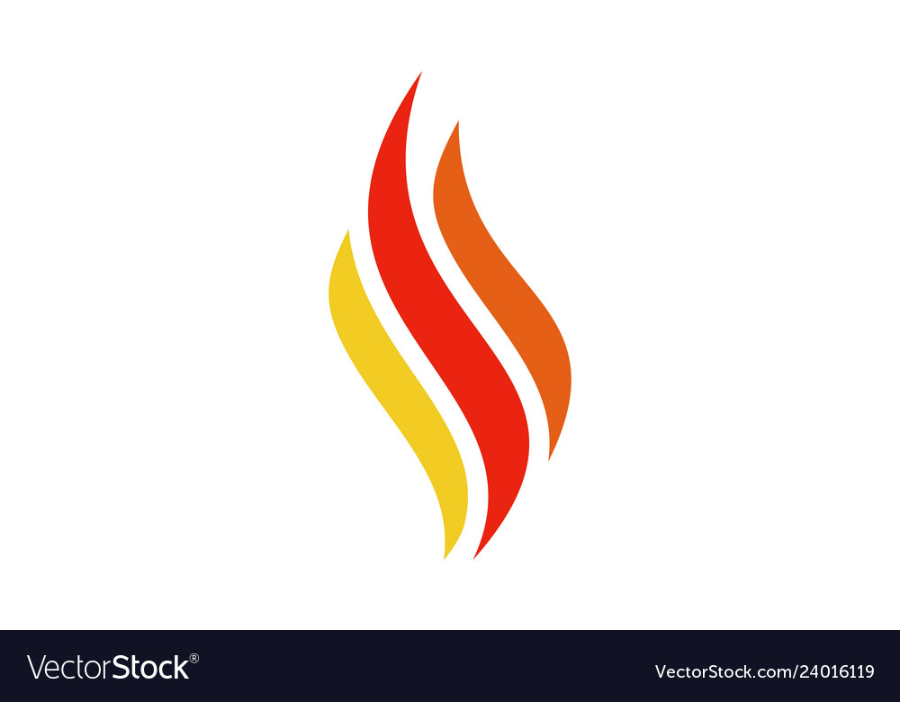 Abstract fire letter s logo icon