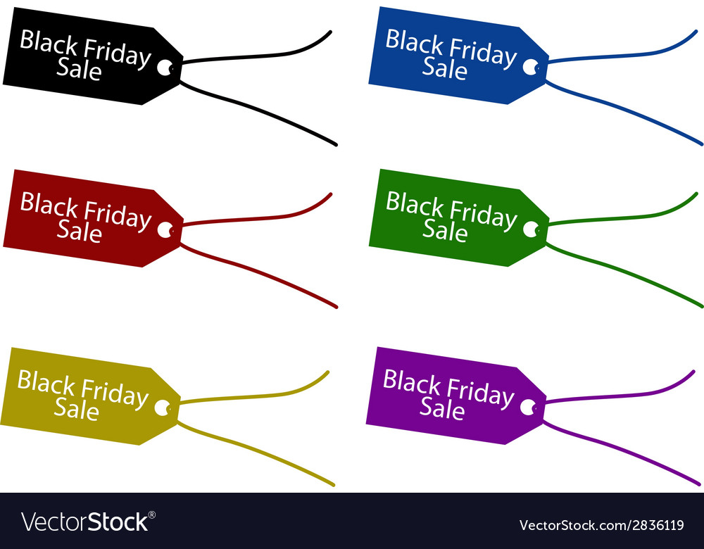 Black Friday Price Tag for Christmas Shopping vector image