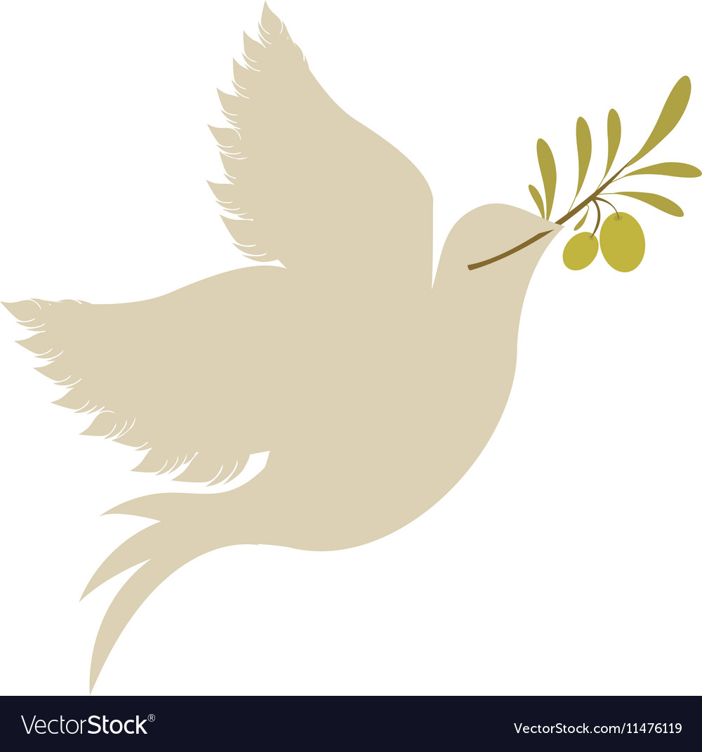 Dove With Olive Branch Icon Royalty Free Vector Image