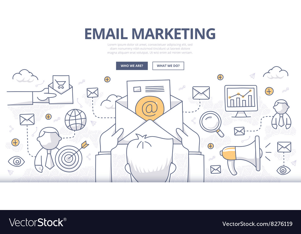 Email Marketing Doodle Concept