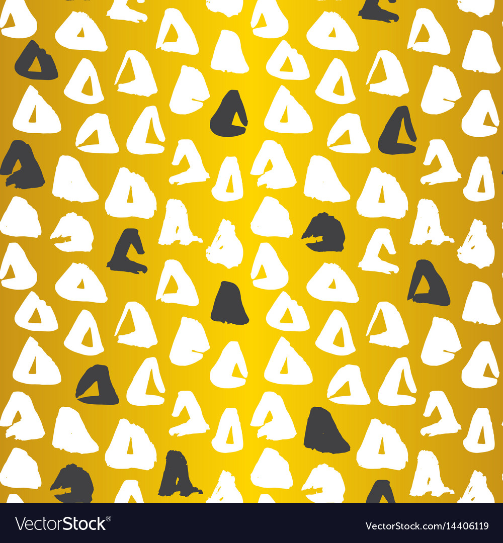 Gold triangle seamless pattern
