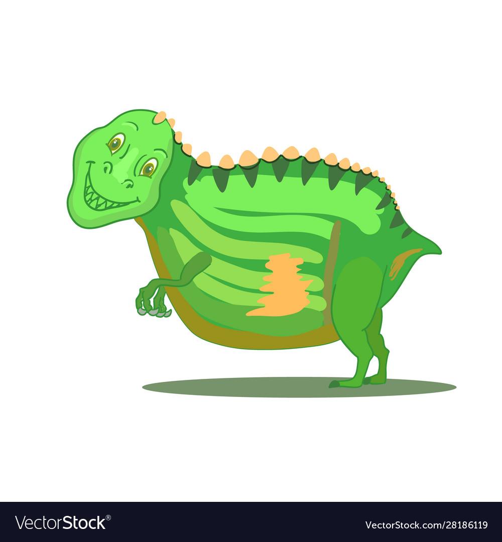 Hand drawn cartoon dinosaur tyrannosaurus rex t