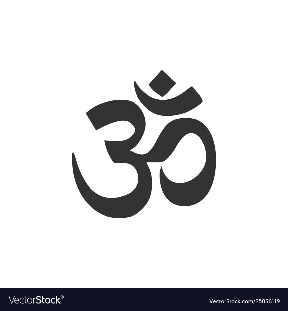 Om or aum indian sacred sound icon isolated