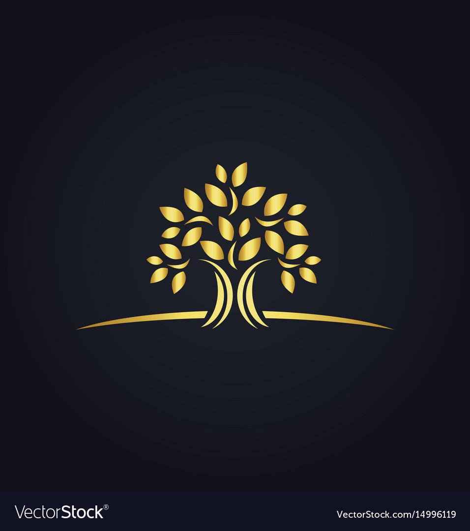 Plant gold tree ecology logo