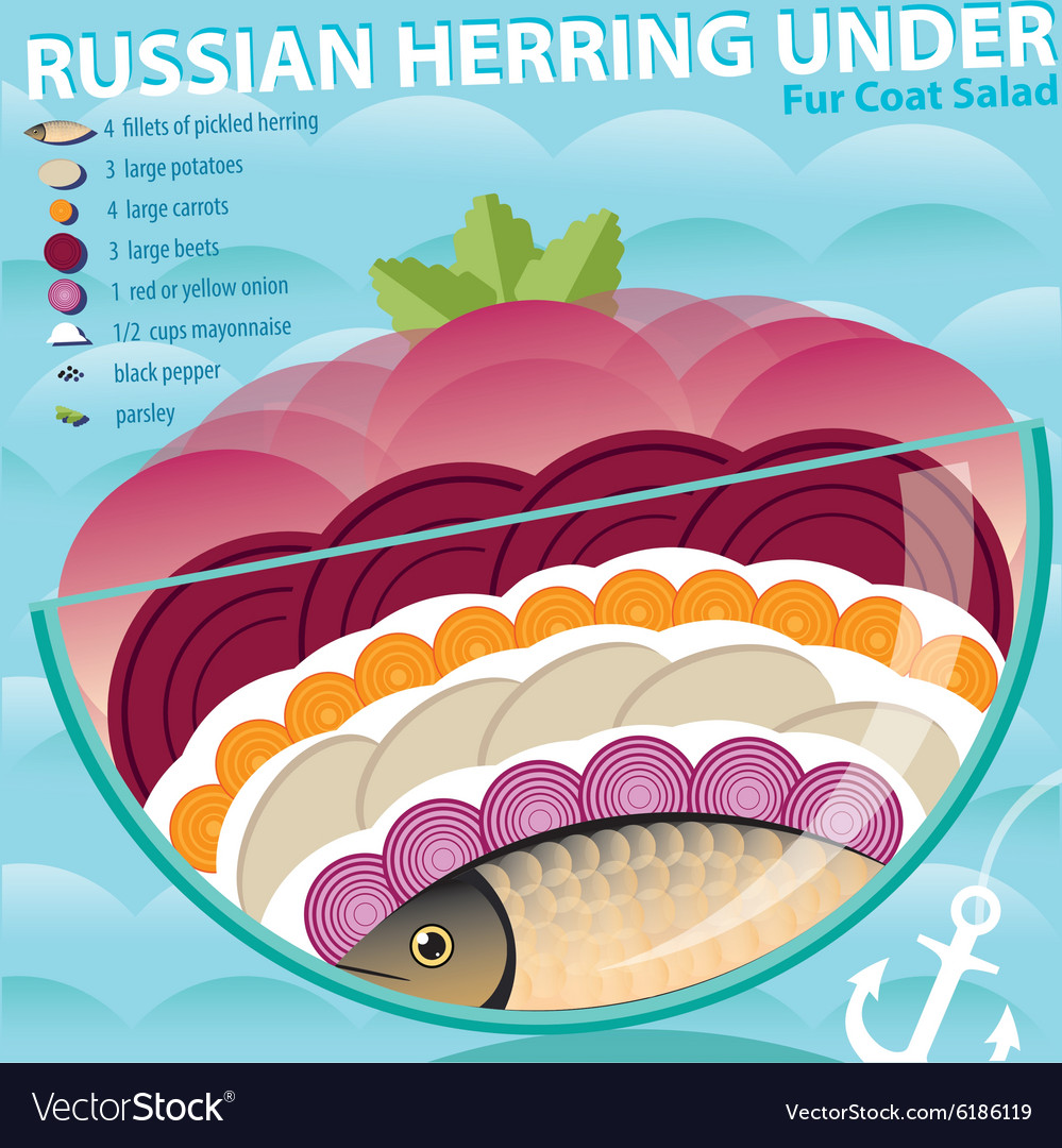 Herring under a fur coat - the best and most delicious recipes for the New Year 2019 sequence of layers 71