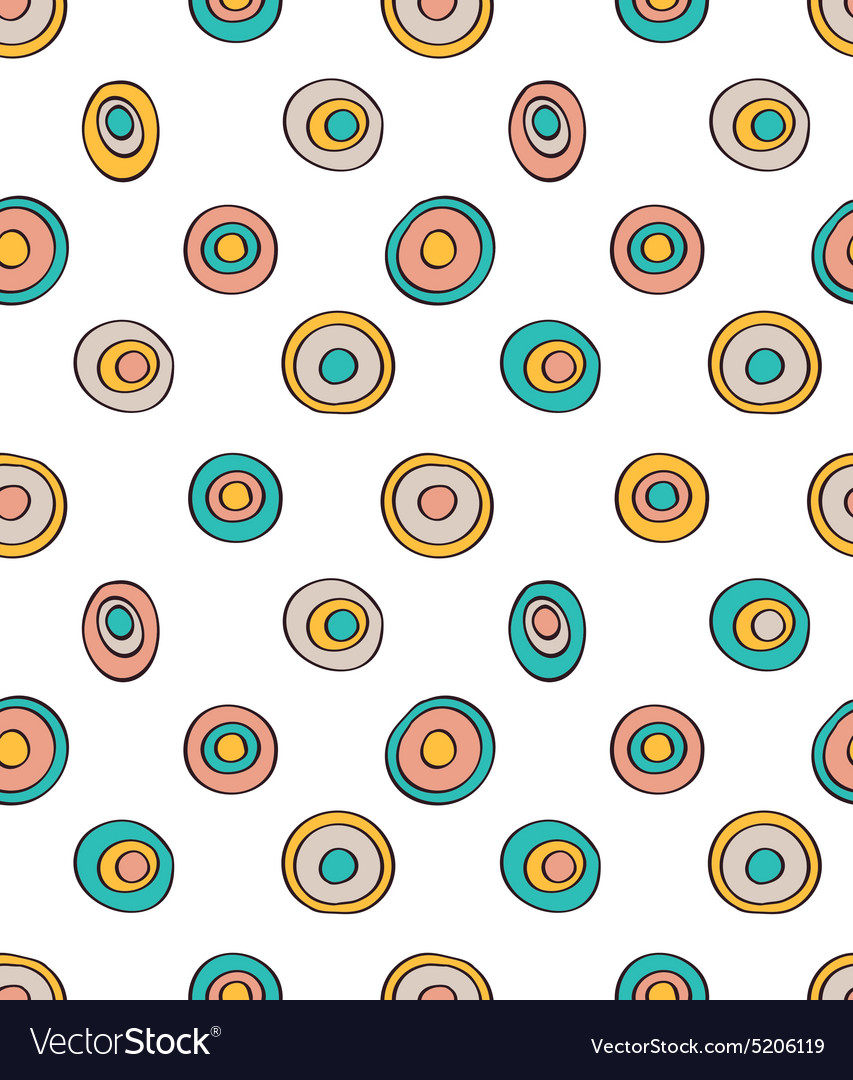 Retro seamless pattern geometric background Polka