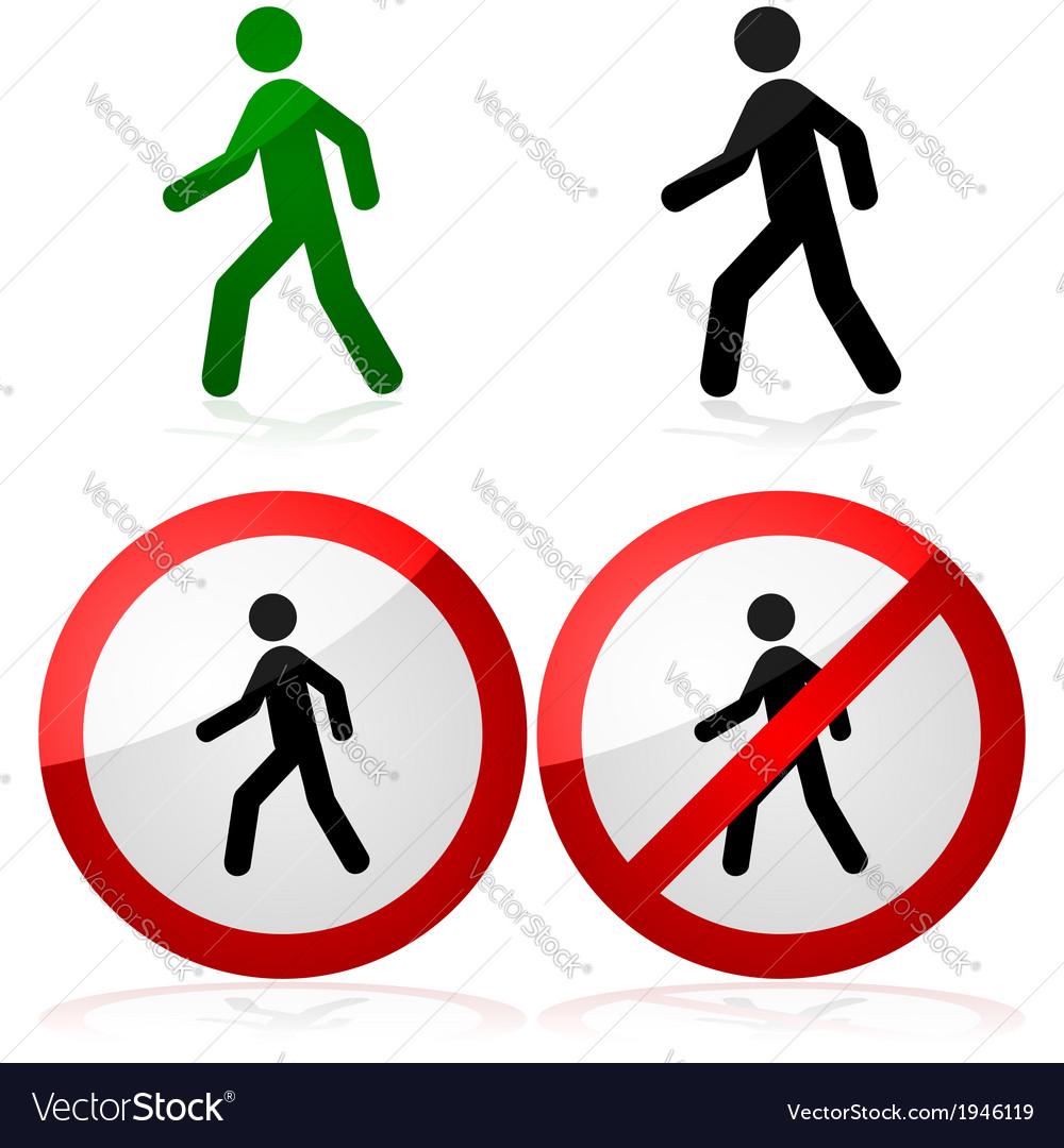 Walking sign vector image