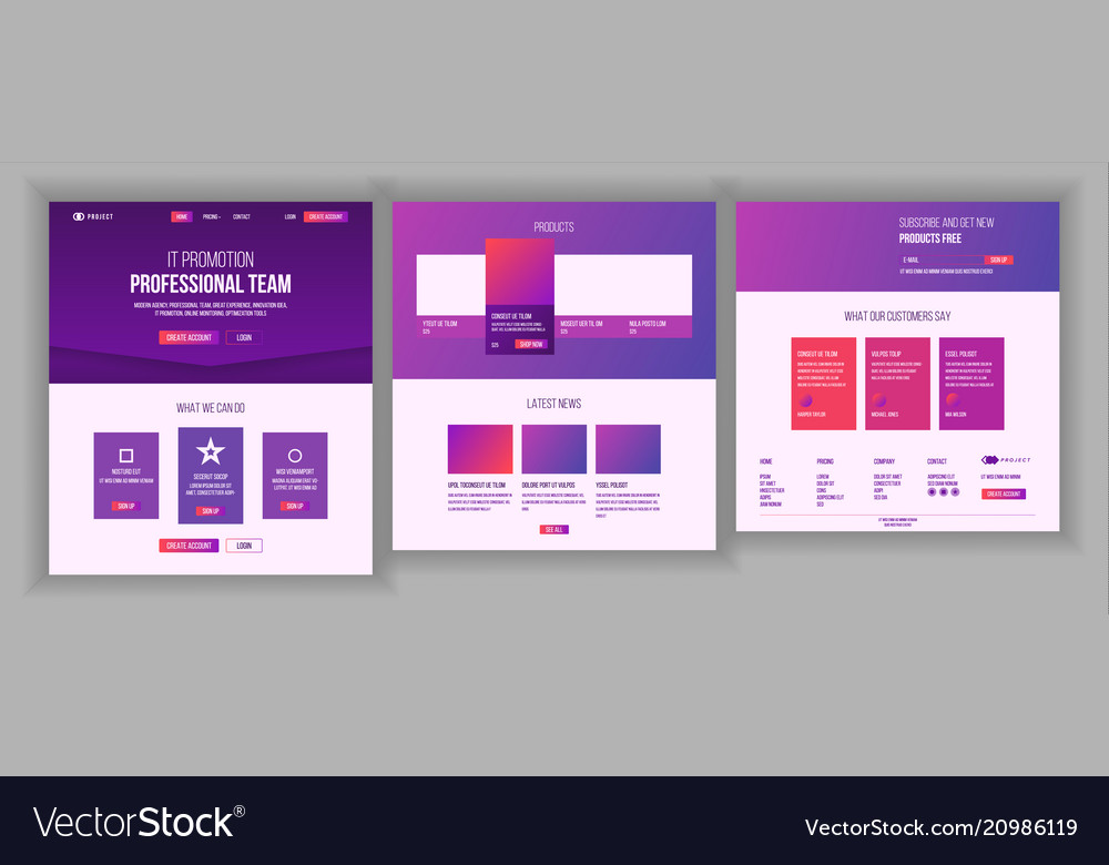 Website template page business landing