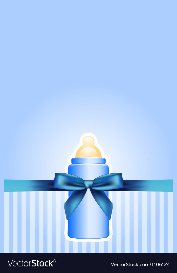 Background with baby bottle and bow