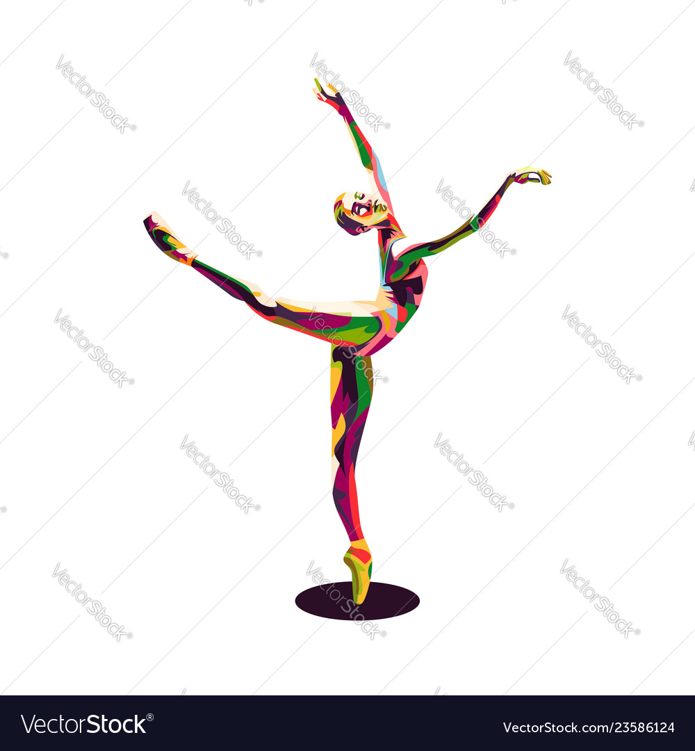 Colorful ballerina