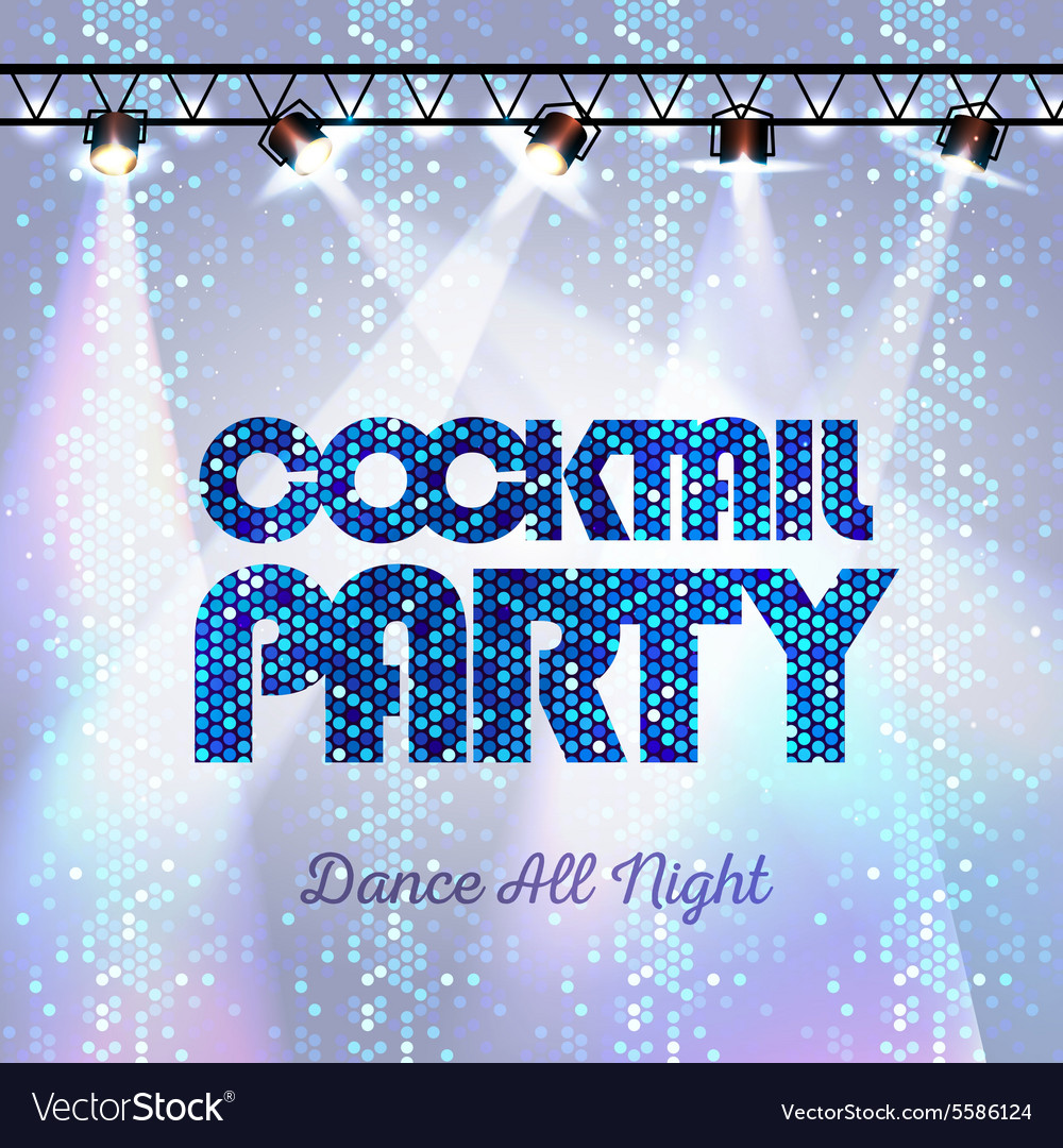 Disco background Cocktail party vector image