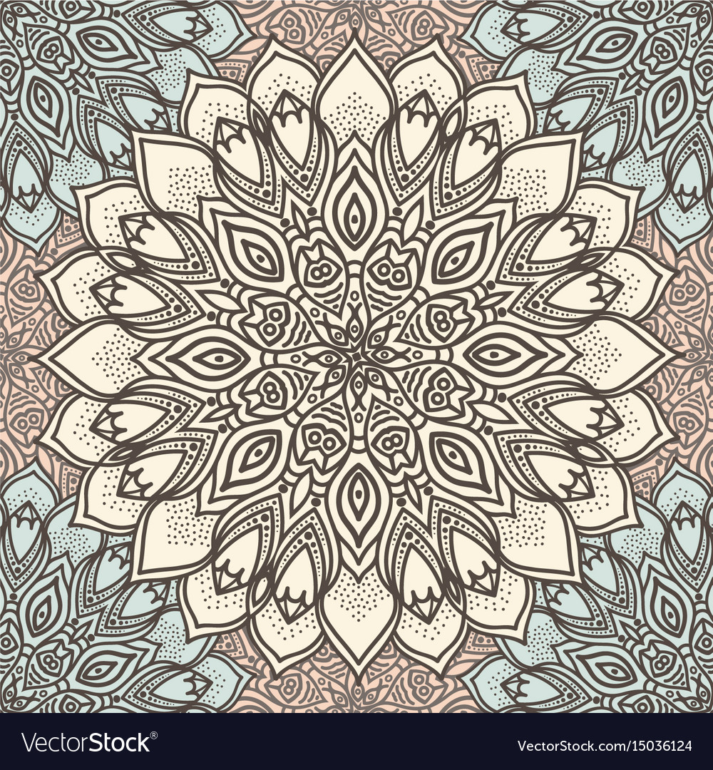 Highly detailed mandala seamless pattern in a