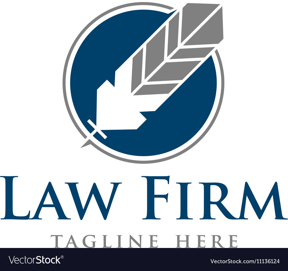 Law Firm Logo Template Royalty Free Vector Image