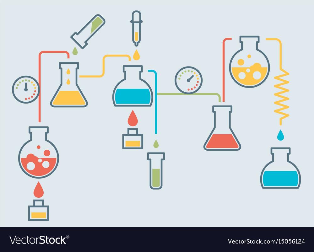 medical laboratory infographics royalty free vector image rh vectorstock com Laboratory Clip Art Laboratory Signs