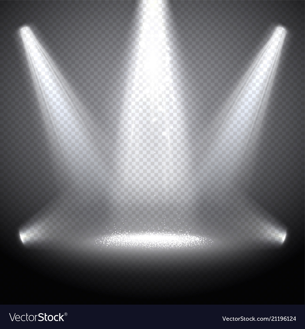 Scene illumination with bright rays