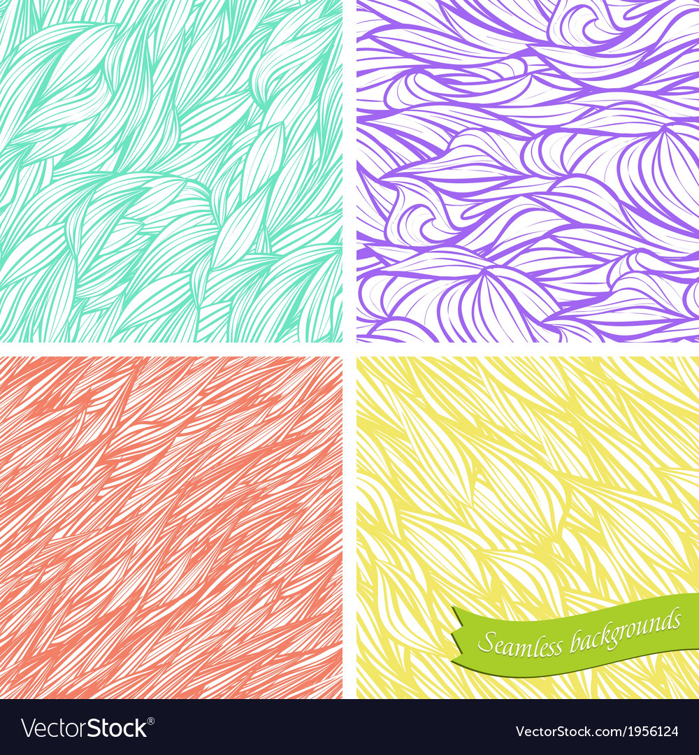 Set of backgrounds seamless vector image