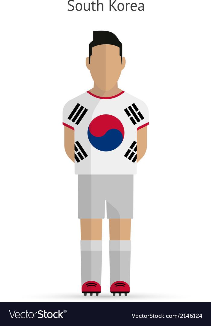 b601dc518 South Korea football player Soccer uniform Vector Image