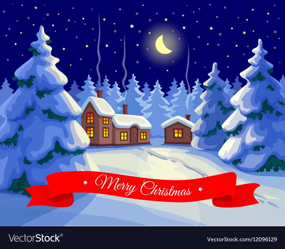 Christmas greeting card Royalty Free Vector Image