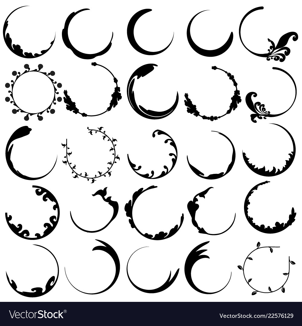 Curve pattern are black circle