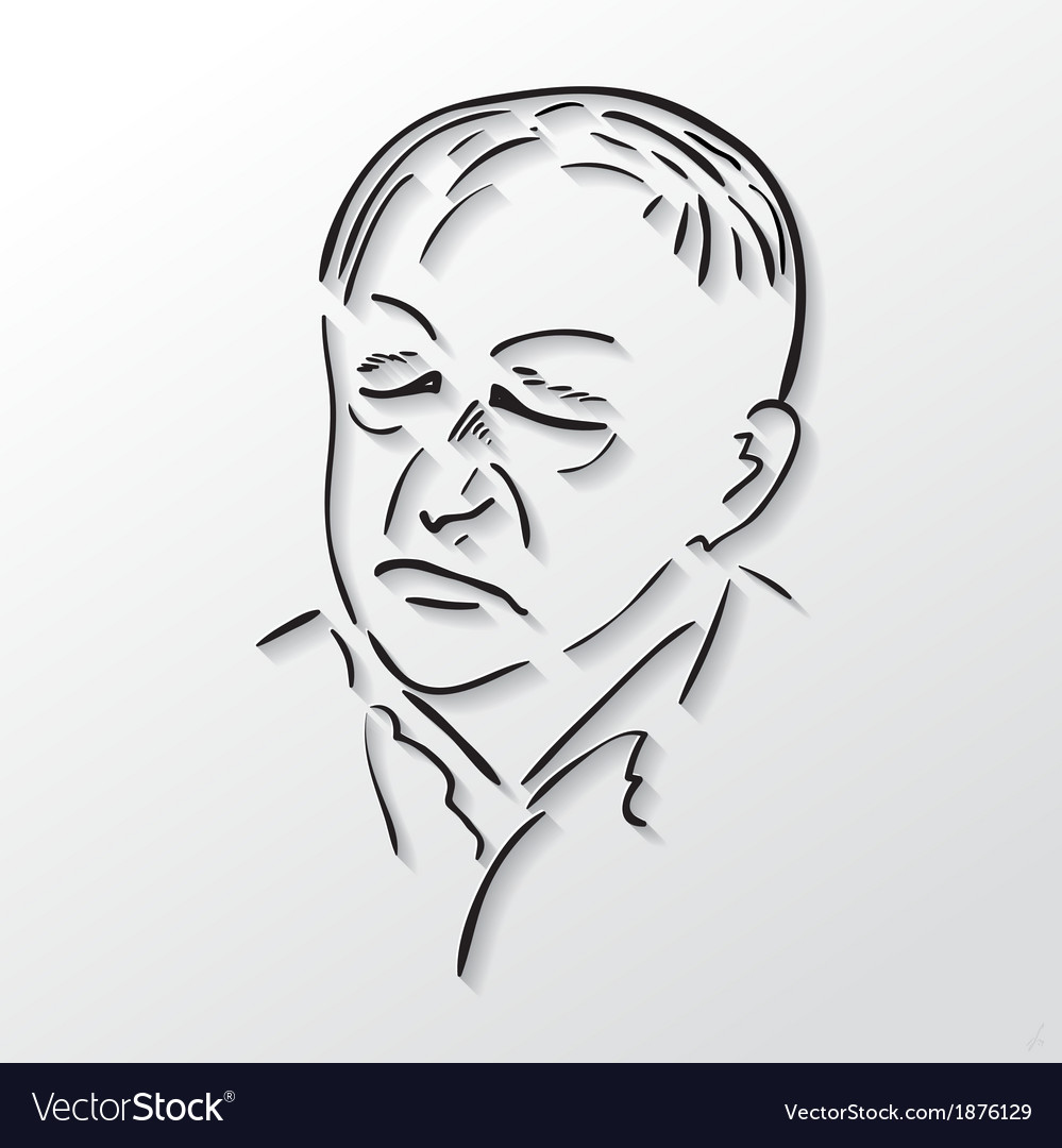 drawing faces old men with eyes closed royalty free vector