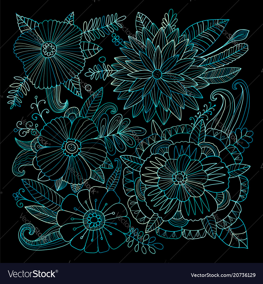Floral background sketch for your design