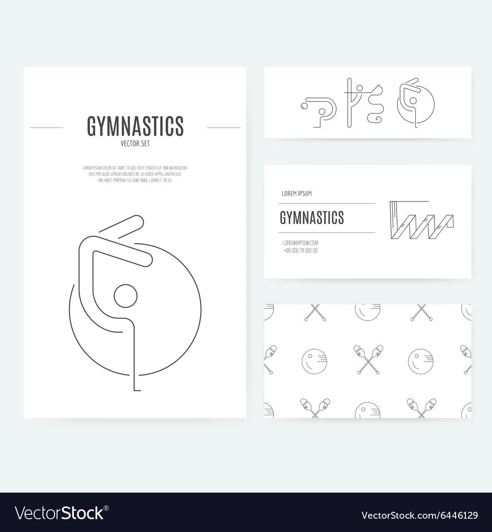 Rhythmic Gymnastics Business Set vector image