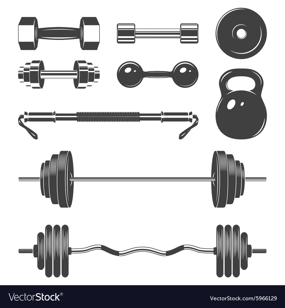Set of sign weights for fitness or gym design
