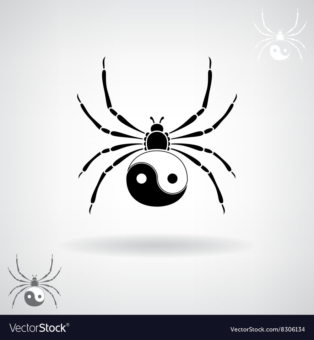 Black silhouette of a spider vector image