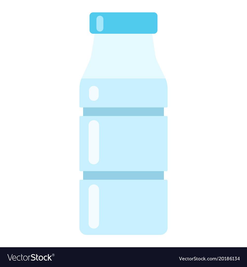 Bottle water icon flat style