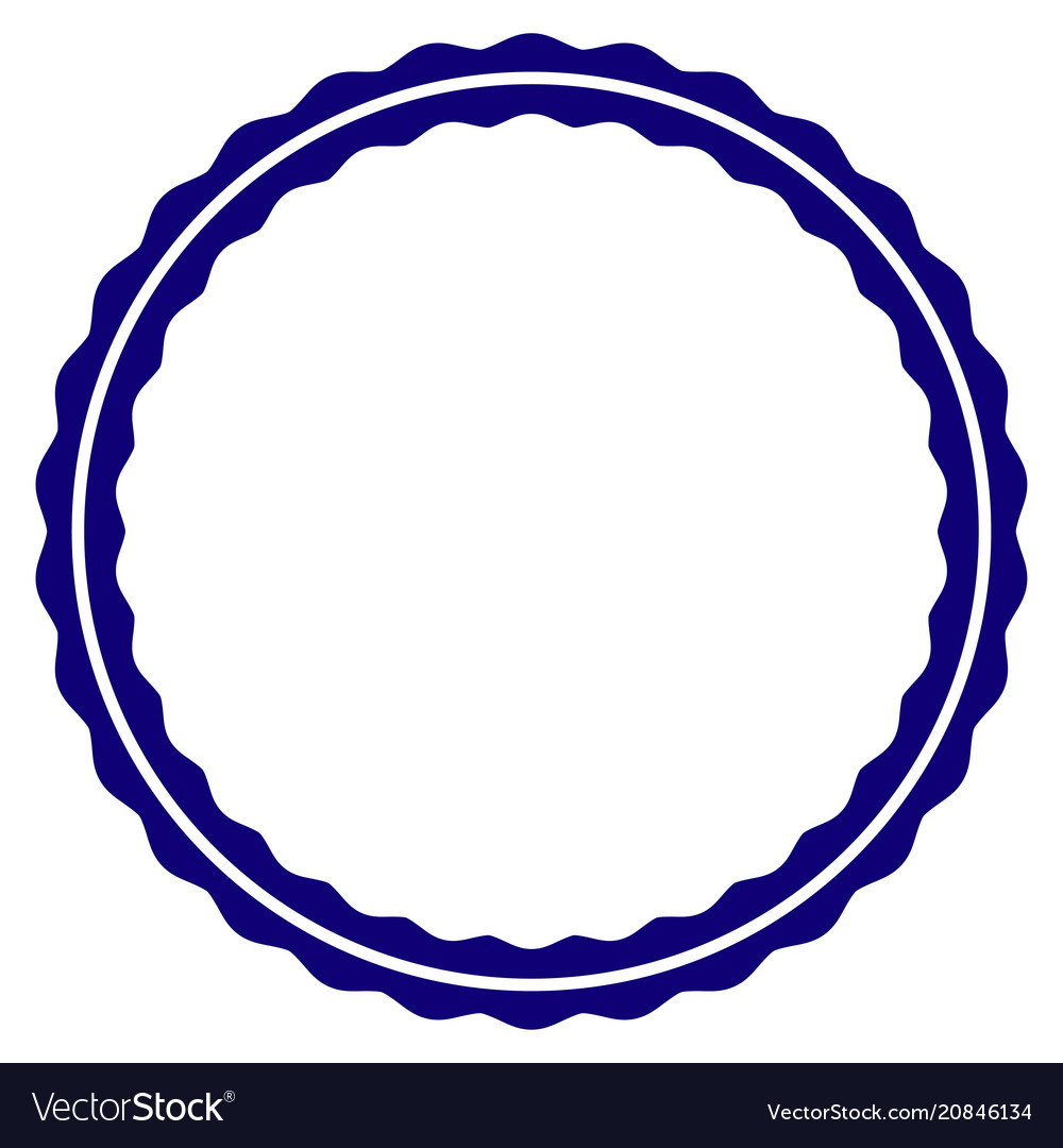 certificate round rosette frame template vector image