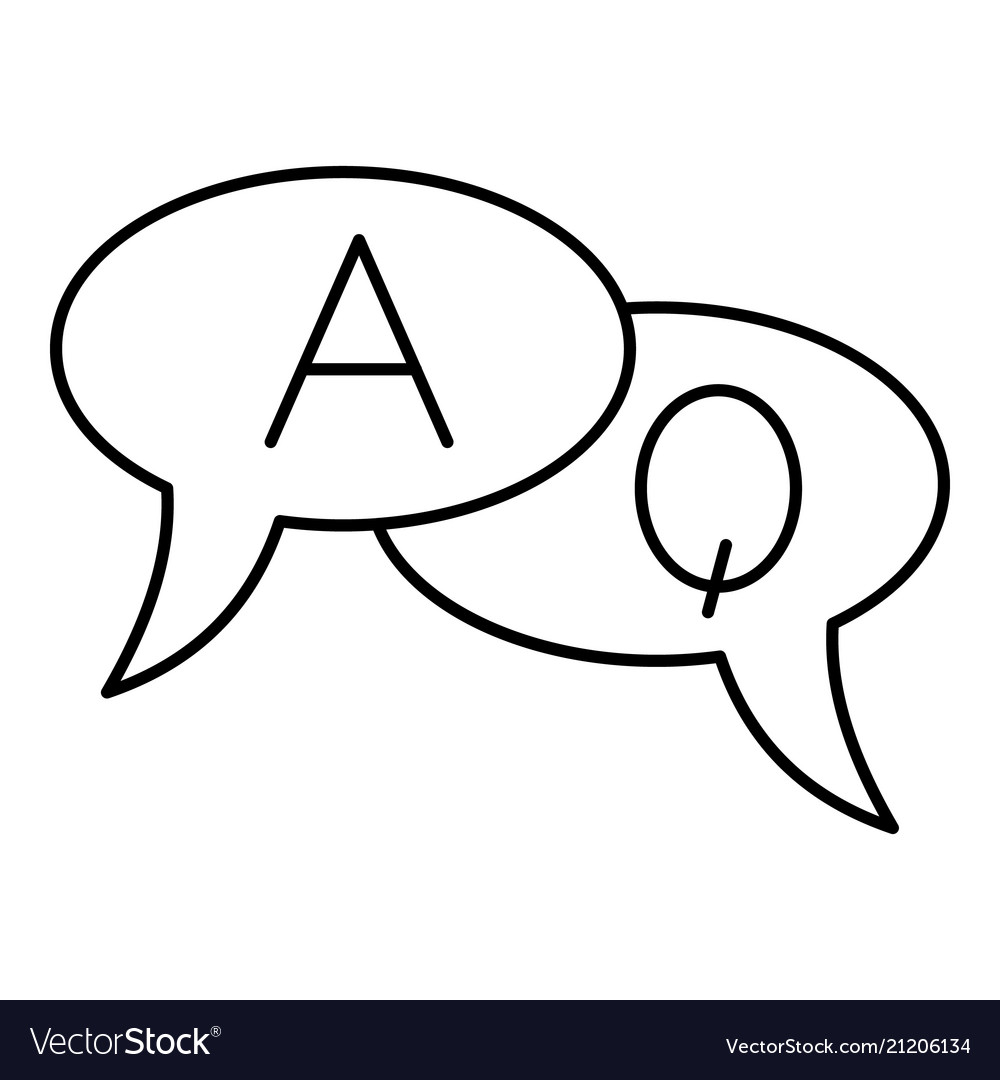 Chat translate icon outline style