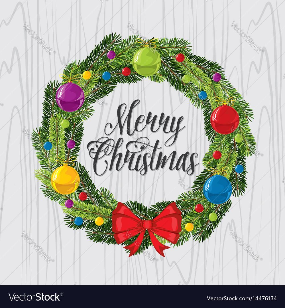 Christmas wreath and christmas tree toys