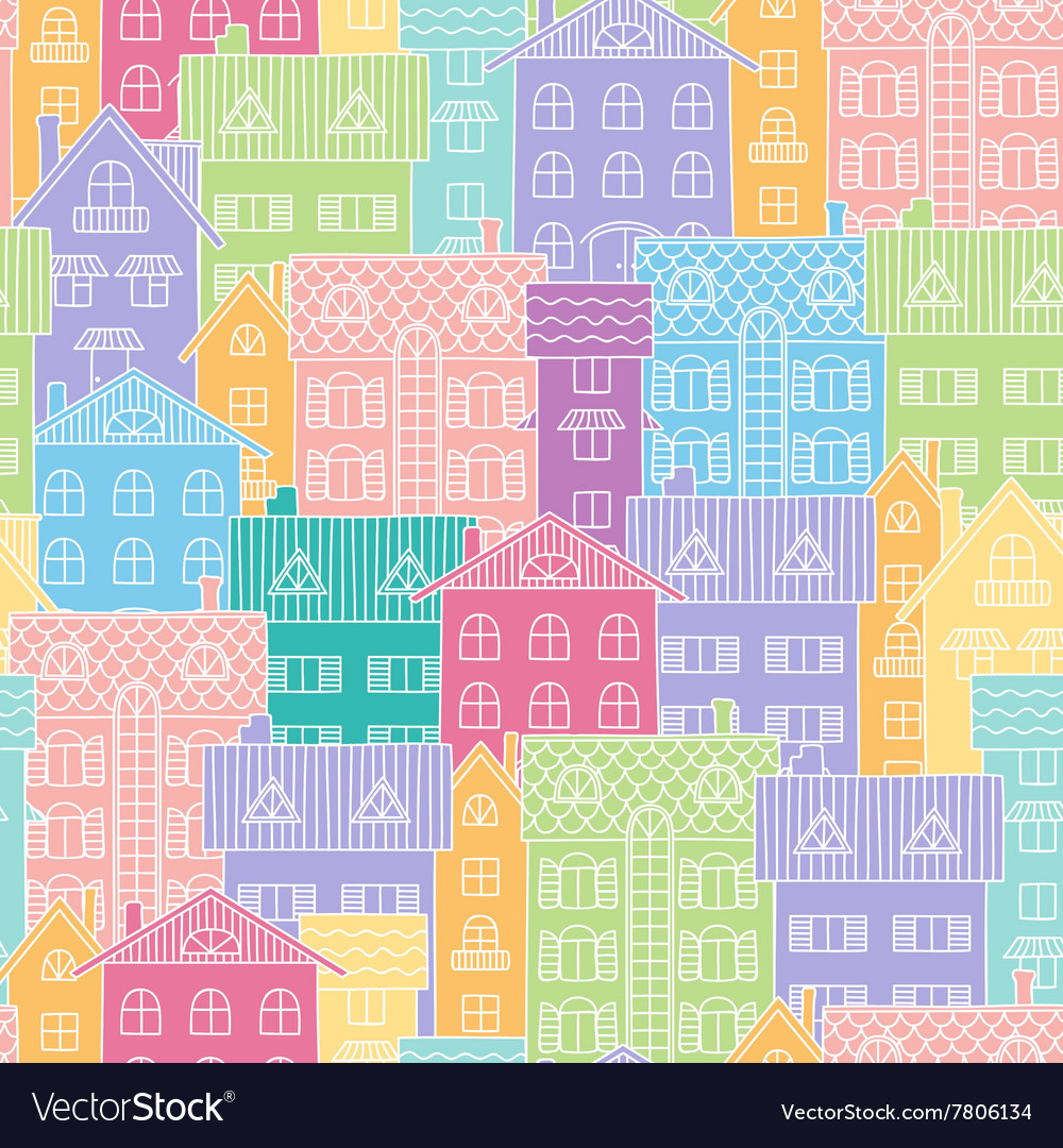 Colorful background of houses