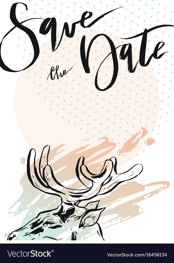 Rustic set with deer eagle mountains vector image