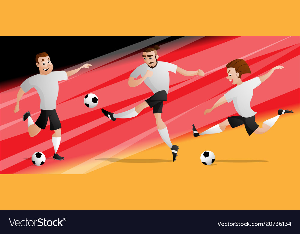 Team germany football soccer players set