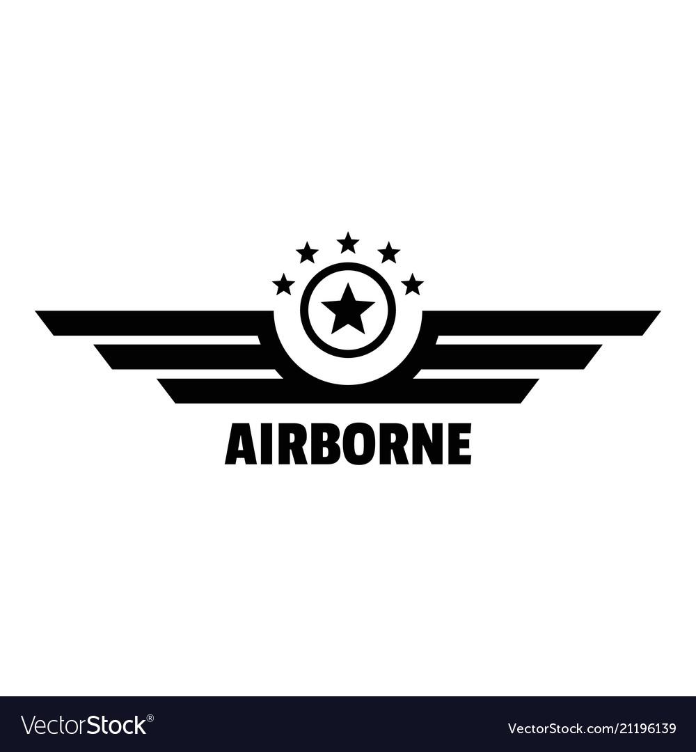 Airborne logo simple style