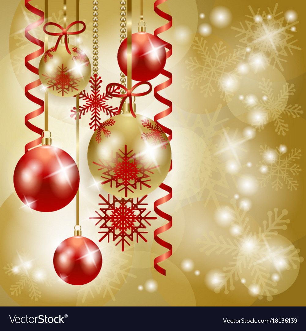 Christmas Background Images Gold.Christmas Background In Red And Gold With Copy