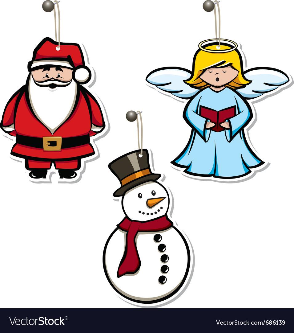 Christmas hangtags vector image