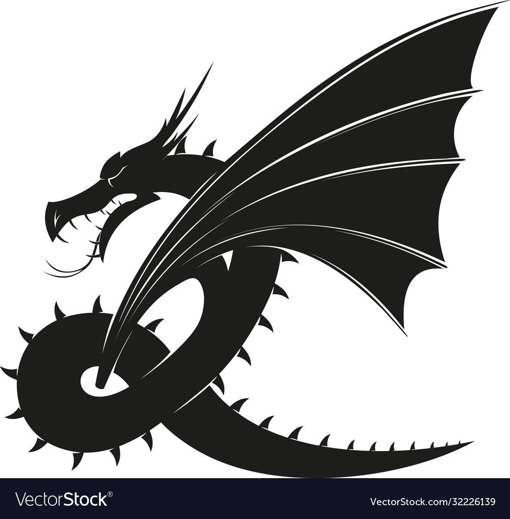 Evil black dragon