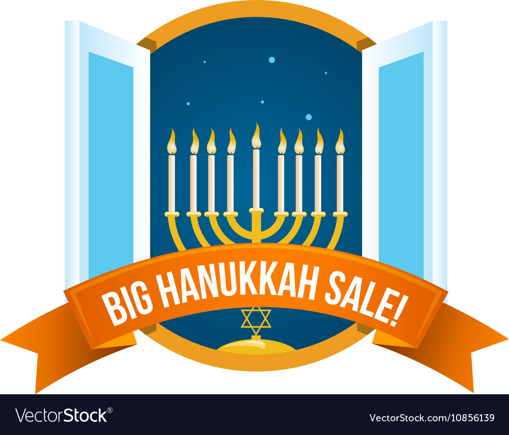 Happy Hanukkah Sale Emblem Design