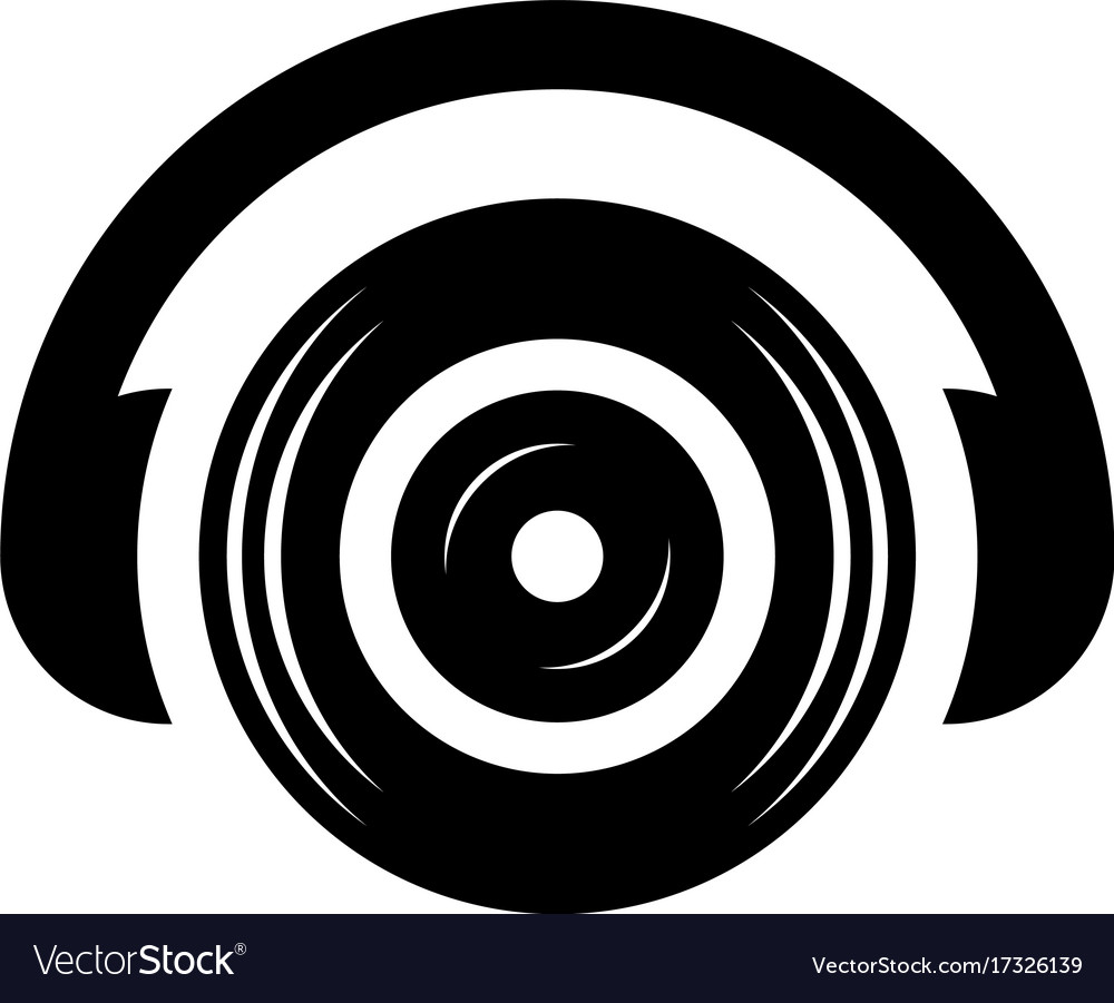 Headphone dj sound icon logo