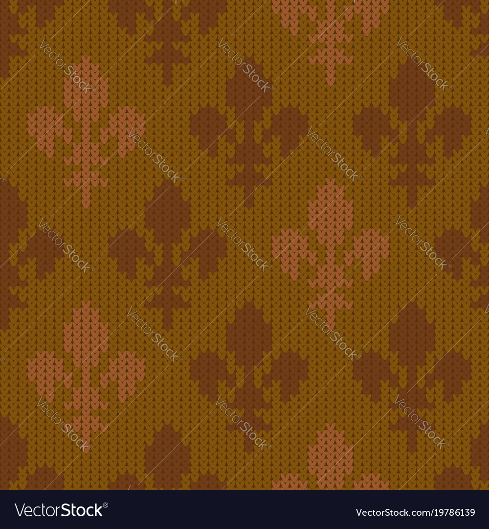 Heraldic lily on a seamless woolen pattern