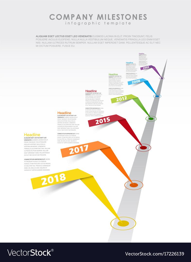 Infographic Startup Milestones Timeline Template Vector Image