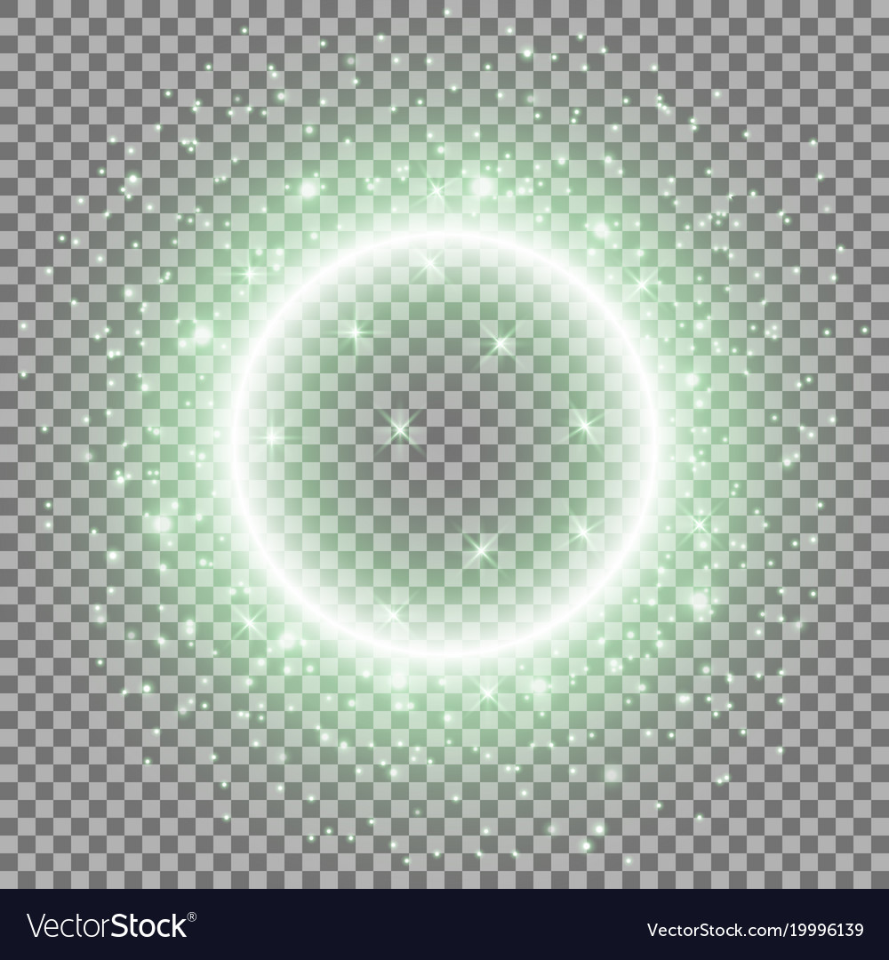 Light ring with stardust green color
