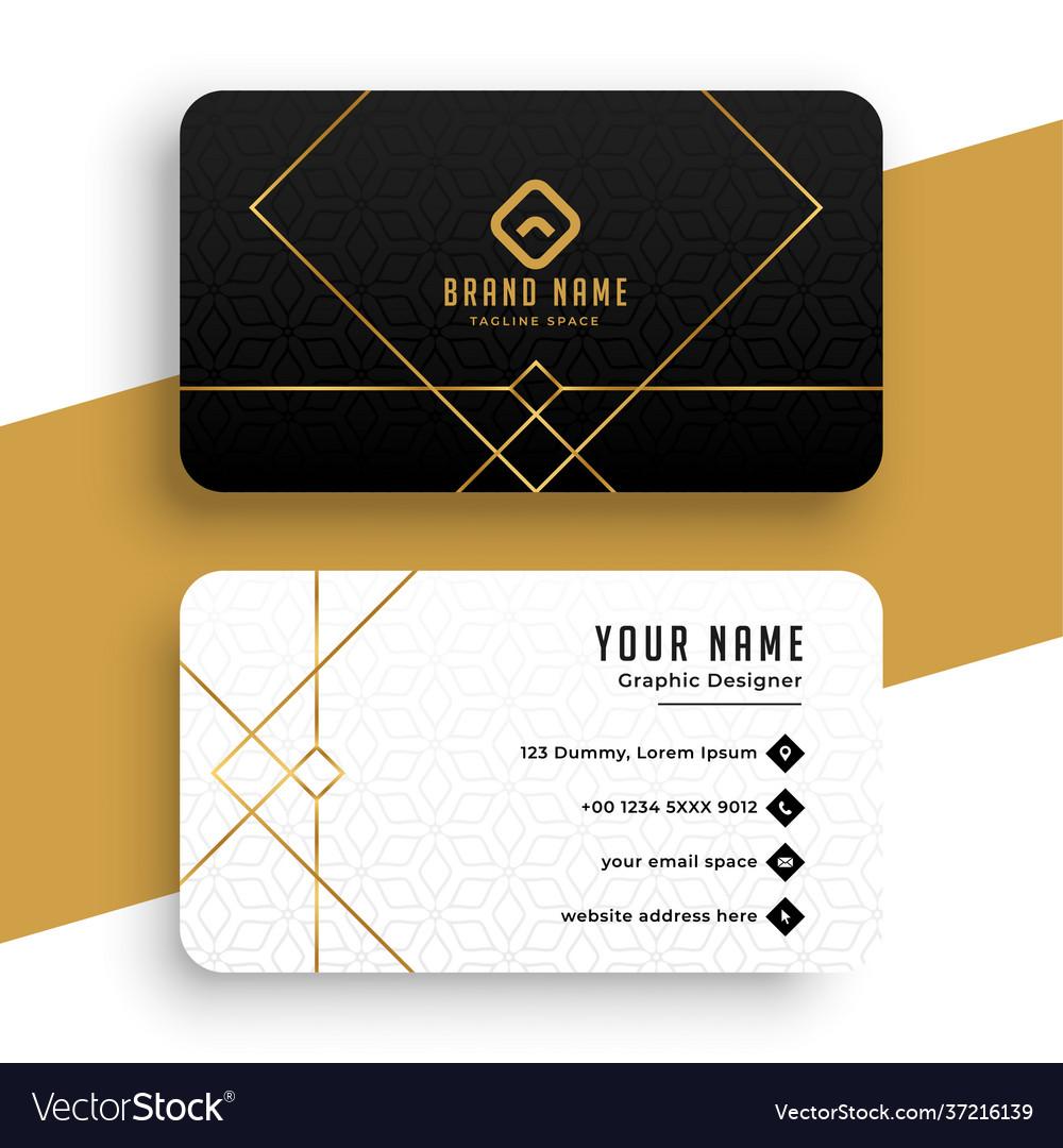 Minimal golden business card template